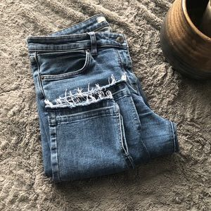 Free People Jeans. Cropped.